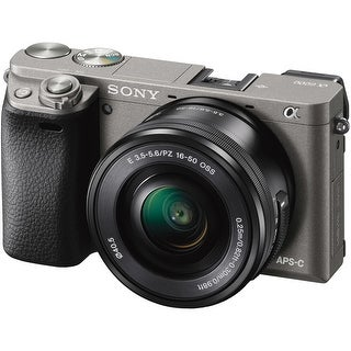 Sony Alpha a6000 Mirrorless Digital Camera with 16-50mm Lens (Graphite) (International Model)