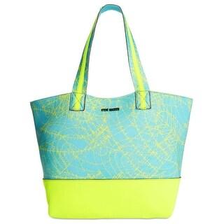 Steve Madden Womens Tote Handbag Neoprene Printed - Large