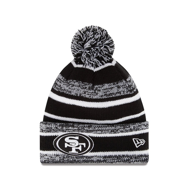 Shop New Era NFL Sport Knit Black White Pom Knit - San Francisco 49ers -  Free Shipping On Orders Over  45 - Overstock - 18795697 820b084a3