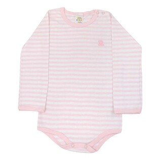 Pulla Bulla Toddler Striped Long Sleeve Romper for Ages 1-3 Years