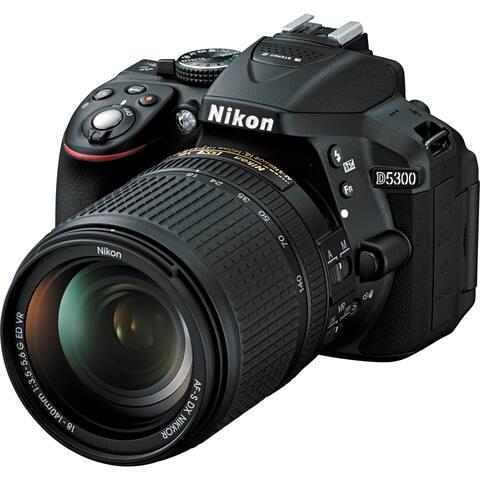 Nikon D5300 DSLR Camera with 18-140mm Lens (Black) - Intl model