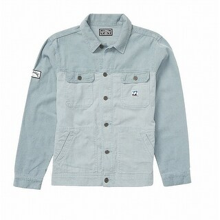 Billabong Light Blue Mens Size XL Button-Front Corduroy Jacket