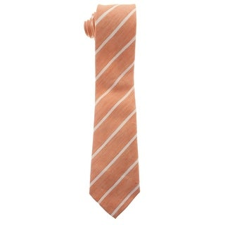 Zara Mens Linen Striped Neck Tie - M