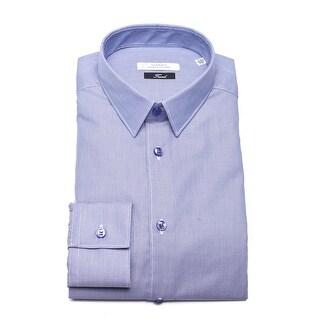 Versace Trend Cotton Dress Shirt Blue