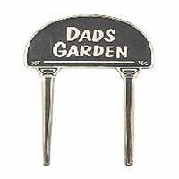 Solid Brass Plaques Garden Sign DADS GARDEN Brass Plate
