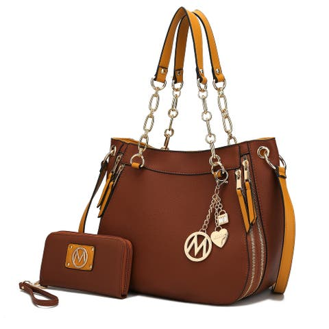 MKF Collection Lina Shoulder Bag with Wallet by Mia K.