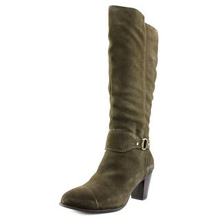 Giani Bernini Cagney Wide Calf Women Army Green Boots
