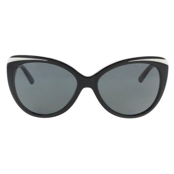 37fbcac801 Shop Donna Karan DY 4125 3627 87 Black White Cateye Sunglasses - 57 ...