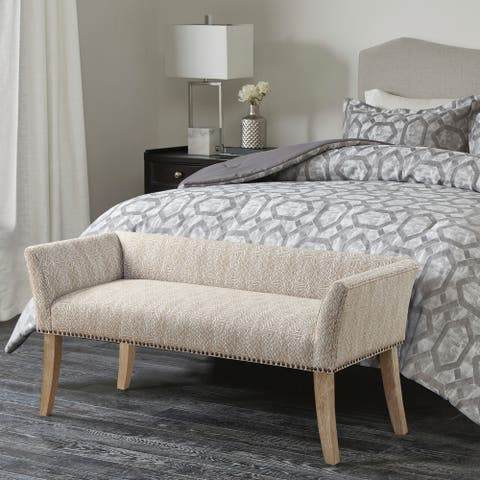 Madison Park Antonio Upholstered Rectangle Accent Bench