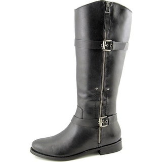 Matisse Militia Women Round Toe Leather Black Knee High Boot