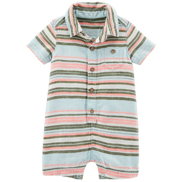 ce06e862d34f Shop Carter s Baby Boys  Striped Romper - Free Shipping On Orders ...