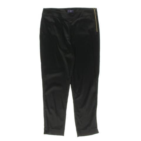 NYDJ Womens Trouser Pants Satin Side Zipper