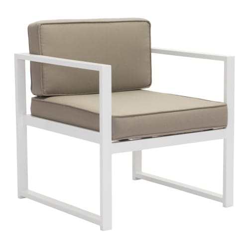 Zuo Modern Patio Furniture.Zuo Modern 703810 Golden Beach 25 Wide Aluminum Frame Accent Chair