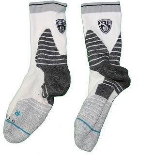 Shane Larkin Brooklyn Nets 201516 Game Used 0 White Socks w Nets Logo