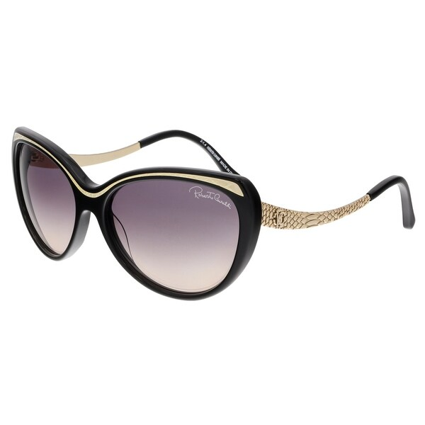 Roberto Cavalli RC898S HEZE 01B Black/Gold Cateye Sunglasses