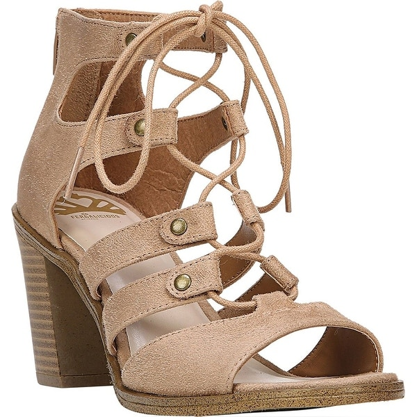 Fergalicious Womens Mambo Suede Open Toe Casual Strappy Sandals