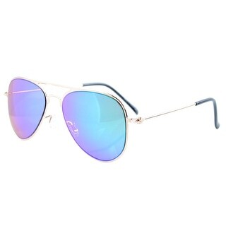 Eyekepper 2-6yr Old Kids Child Aviator Sunglasses Gold Frame-Green Mirror