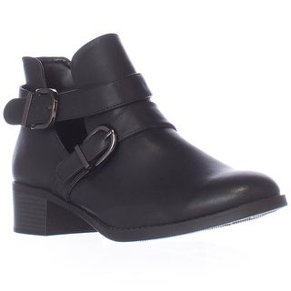 Easy Street Badge Low Cut Ankle Boots - Black Burnish