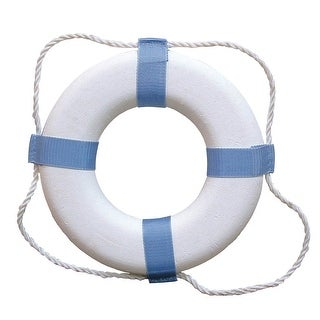 Taylor Made Decorative Ring Buoy 24 White Blue Not USCG Approved