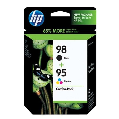 HP 98 Black & 95 Tri-color Combo Pack Original Ink Cartridges (CB327FN)(Single Pack)