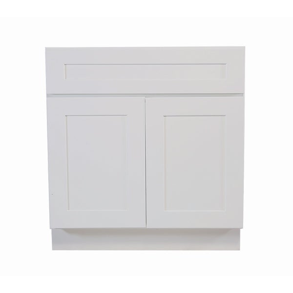 Design House 561472 Brookings 30 Wide X 34 1 2 High Double Door Base Cabinet With Single Drawer White Free Shipping Today 17572293
