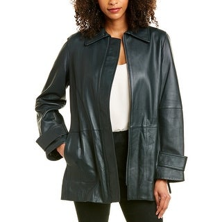 Link to Vince Belted Leather Trench Coat Similar Items in Women's Outerwear