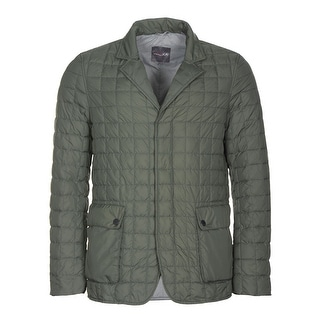 Duvetica Quilted Goose Down Fill Jacket Olive Green Medium M 50