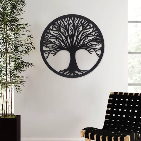 ADECO Tree Leaf Metal Wall Art Sculpture Life Home Wall Decor