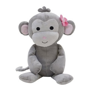 Bedtime Originals Pinkie Gray/Pink Plush Monkey Stuffed Animal - Cupcake