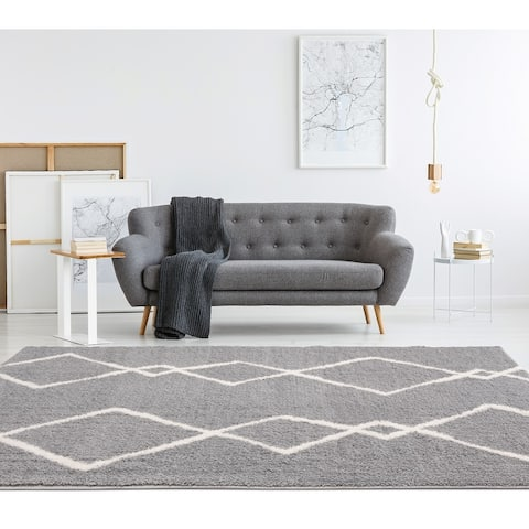 Carson Carrington Tossene Geometric Shag Area Rug