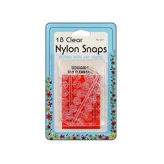 Collins Nylon Snaps Clear 18pc