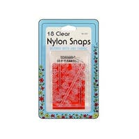 Collins Nylon Snaps Clear 18pc