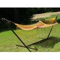 Sunnydaze Thick Cord Mayan Hammock with Curved Spreader Bars - Thumbnail 1