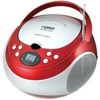Naxa Npb251Rd Portable Cd Players With Am/Fm Radio (Red)