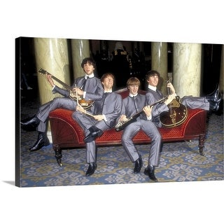 """""""The Beatles waxwork models in Madame Tussauds, London, England"""" Canvas Wall Art"""