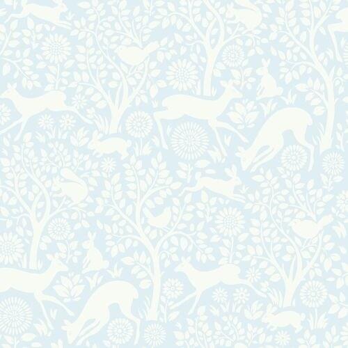 Brewster HAS01233 Anahi Light Blue Forest Fauna Wallpaper