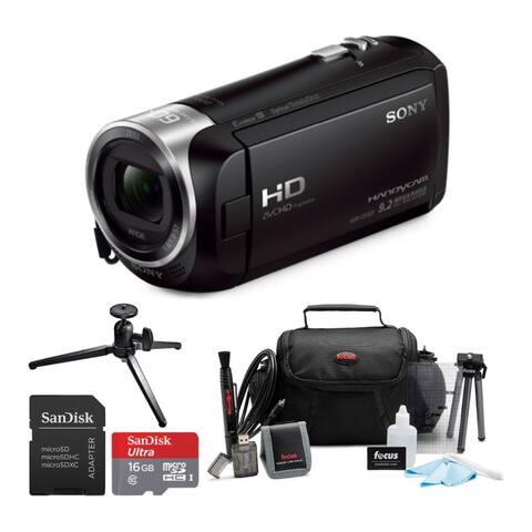 Sony HDRCX405 Handycam HD Camcorder with 16GB Card & Accessory Bundle