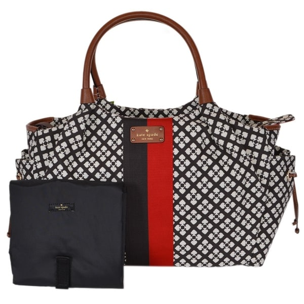 Kate Spade Classic Chocolate Brown Stevie Baby Diaper Bag Purse