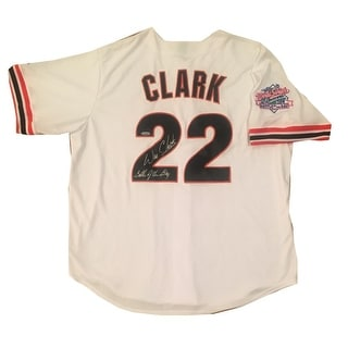 Will Clark Autographed San Francisco Giants 1989 World Series Battle of the Bay Signed Baseball Jersey Patch TRISTAR COA