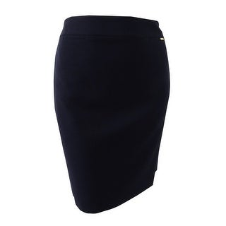 Tahari Women's Solid Pencil Skirt - Navy