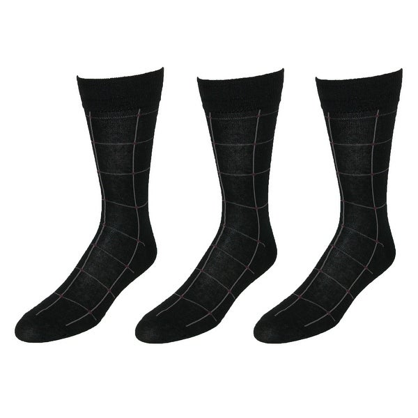 Beverly Hills Polo Club Men's Fashion Dress Socks (6 Pair Pack)