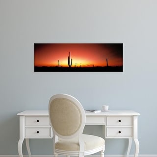 Easy Art Prints Panoramic Images's 'Sunset AZ USA' Premium Canvas Art