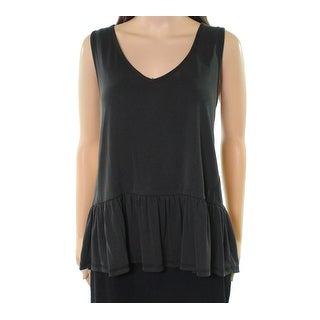 Harlowe & Graham NEW Black Womens Size Medium M Peplum Knit Tank Top
