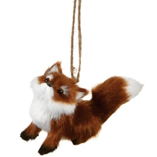 """3.5"""" Forest Friends Sitting Red Fox Wildlife Christmas Ornament"""