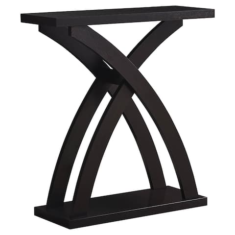 """Offex Home Office Contemporary Accent Table - 32""""L Cappuccino Hall Console"""