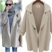 Womens Loose Warm Knitted Cardigan Coat with Free Gift Necklace