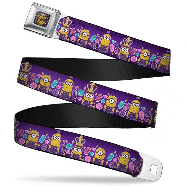 King Bob Full Color Purple Gold Royal British Invasion 3 Minions Jewels Seatbelt Belt