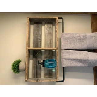 Del Hutson Designs Reclaimed Bathroom Plank Shelf