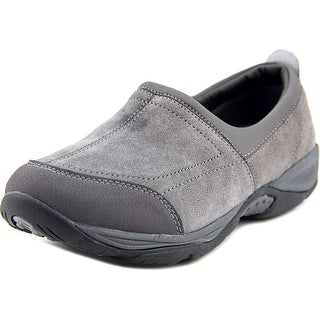 Easy Spirit EZ Stretch Women W Round Toe Suede Gray Loafer