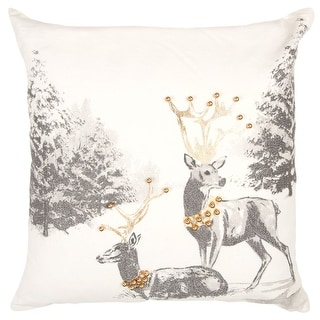 """Link to Rizzy Home Metallic Animal 20""""X 20"""" Decorative Pillow Similar Items in Decorative Accessories"""